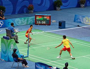 racchette e volano per Badminton
