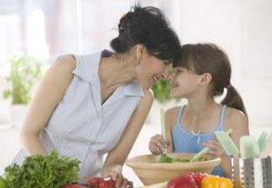 Bambini frutta e verdura
