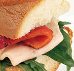 Pranzo con un panino saporito