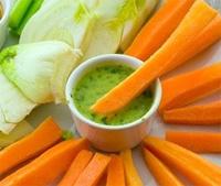 Finocchio e carote crude