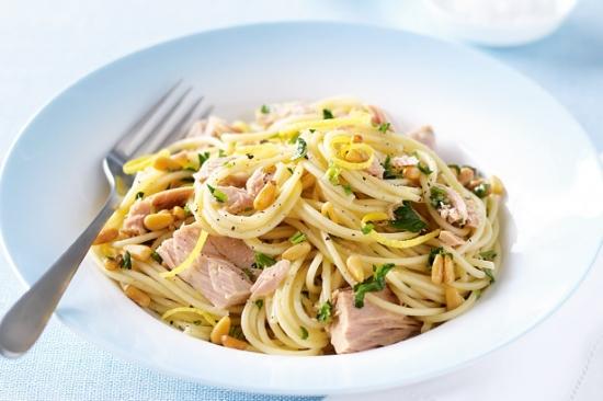 Spaghetti con tonno e zenzero