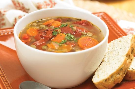 Zuppa primavera con verdure