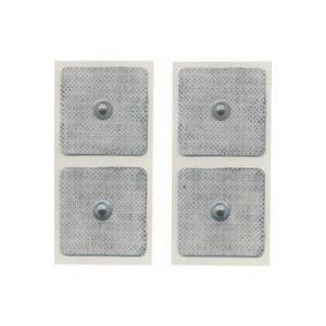 4 Elettrodi Quadrati 50 X 50 Mm A Bottone