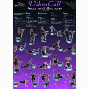Well-Net Poster Esercizi Vibrocell Accessori Pedane Vibranti