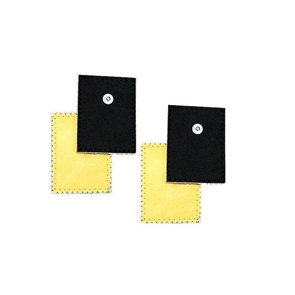 4 Elettrodi In Daino Per Ionoforesi 80 X 120 Mm
