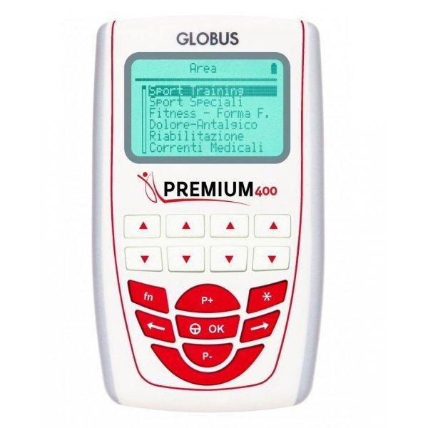 Elettrostimolatore Globus Premium 400 A 4 Canali + 1 Gel E 8 Elettrod