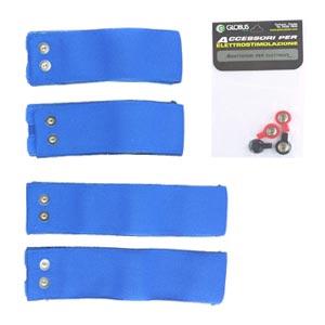 Globus Kit 4 Fasce Elastiche Conduttive Per Cosce Ricambi Elettrostim
